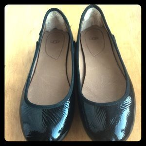 Ugg Australia Antora Patent Black Leather Flats